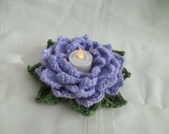 Lavender Flower votive candle holder