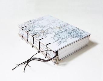 Travel Journal, Notebook, Sketchbook - World Traveller Map
