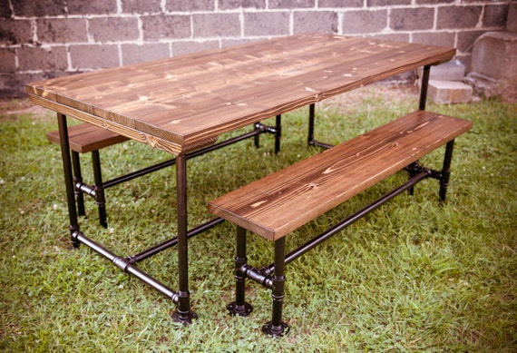 Items similar to 8ft Industrial style Farmhouse Table on Etsy