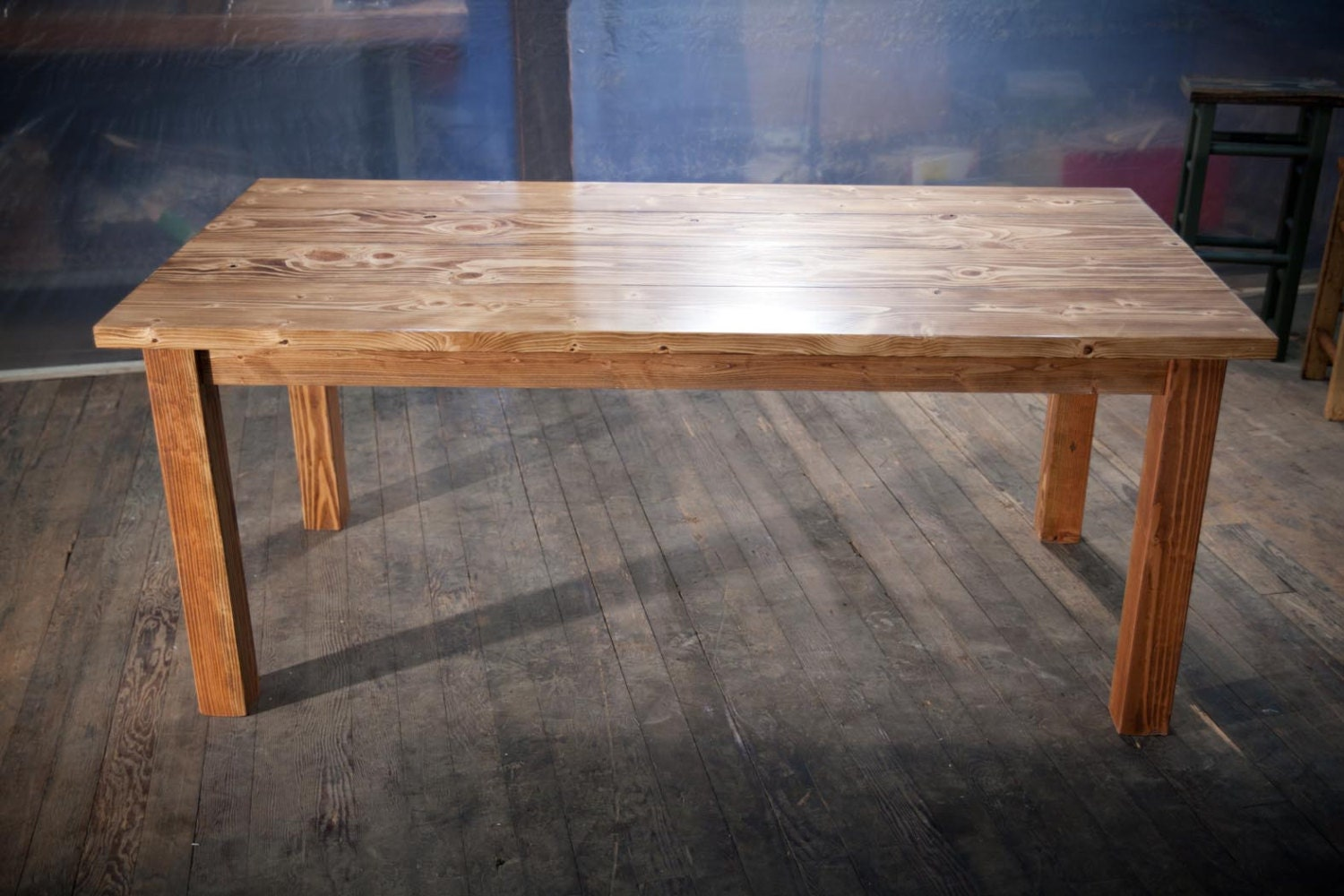 6 39 solid wood farmhouse table farmhouse dining by emmorworks for Solid wood farmhouse table