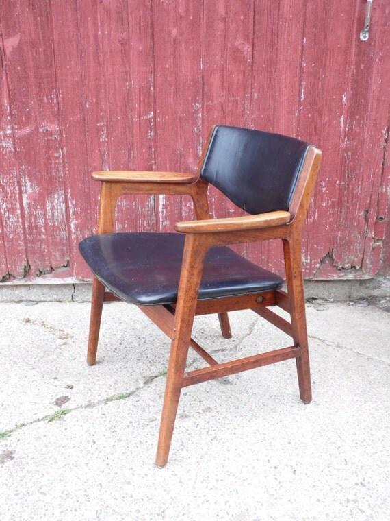 W H Gunlocke CHAIR Mid Century Desk Chair fice Chair Wood