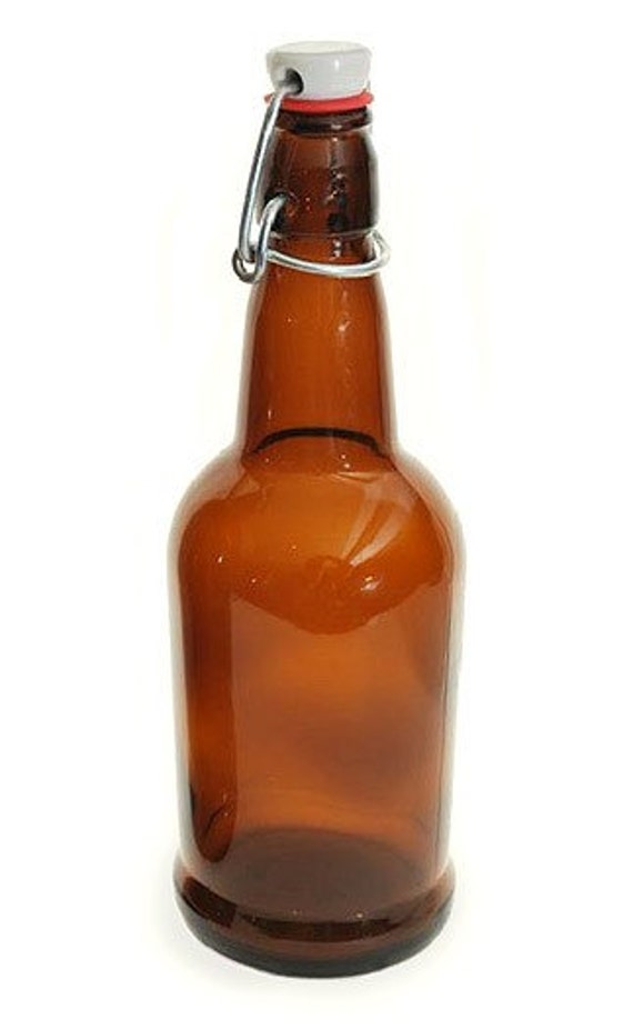 Amber 16 Oz Flip Top Bottle Sold Individually