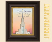 LDS Princess Temple 5x7 Quote Printable Typography