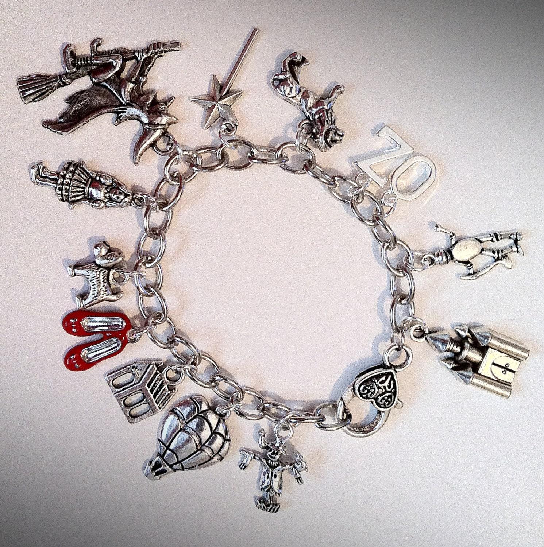 Wizard of oz inspired charm bracelet by twisteddreamsjewelry