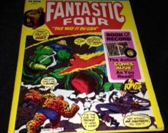 Fantastic Four: The Way it Began book & record set 1974