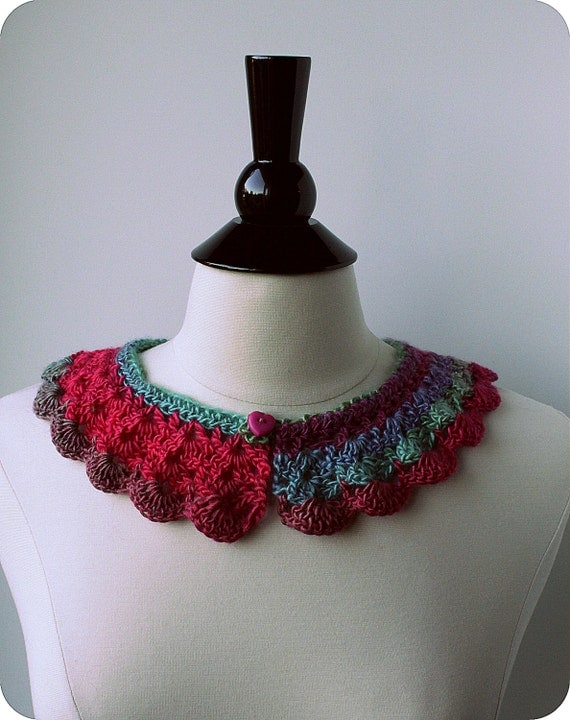 Ombre Crochet Peter Pan Collar