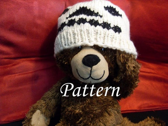 Knitted Skull Hat Pattern : PATTERN Knit Skull Hat Preemie Baby Toddler Child Adult