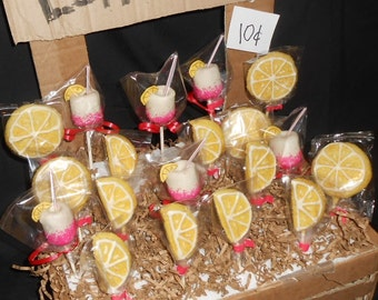 24 Pink Lemonade CAKE POPS Lemonade stand party pops