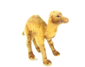 Vintage Steiff Camel, Vintage Stuffed camel,Toy, Animal, Stuffed Animal,collectible toy,German