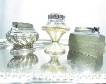 Vintage lighter,silver lighter, cigaret lighter,hunting,gift for him,smoke,collectible.
