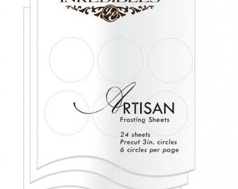 Inkedibles Artisan Frosting Sheets 24 sheets: Precut 3.0 inch circles (6 circles per sheet)