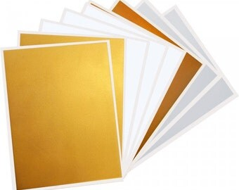 InkEdibles Premium Frosting DazzleSheets Sampler: 8 sheets Letter Size (2 of each Gold, Silver, Bronze and Pearl Sparkle)