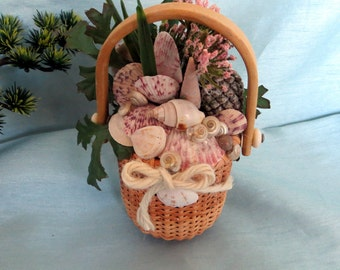 Sea Shell filled basket