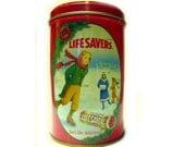 Lifesavers Holiday Keepsake Tin, Limited Edition 199I Winter Ice Skating, Advertising Collectible