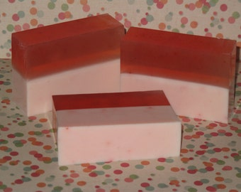 BUBBLEGUM SOAP, made with organic ingredients, pure eucalyptus , grapefruit & ylang ylang essential oils.