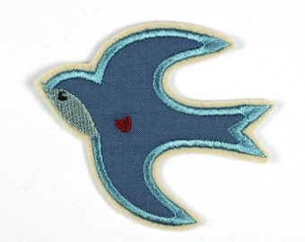 Patch bird Swallow Helene ca. 8 x 9cm