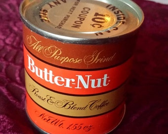 Butter-Nut Coffee Minature Sample 1.55 oz Can Sealed