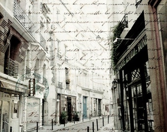 Paris Photography, Paris Art, Digital Art, Paris Photo, Street  Photography, French Script Photo, French Text, Paris Photography, Wall Art