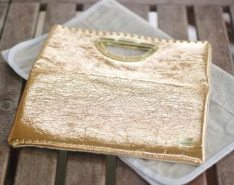 Retro Gold clutch purse