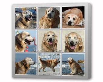 Custom canvas print Your Dog's Photos Collage  Canvas Cotton canvas print Personalized photo portrait Pet photo print Framed canvas product