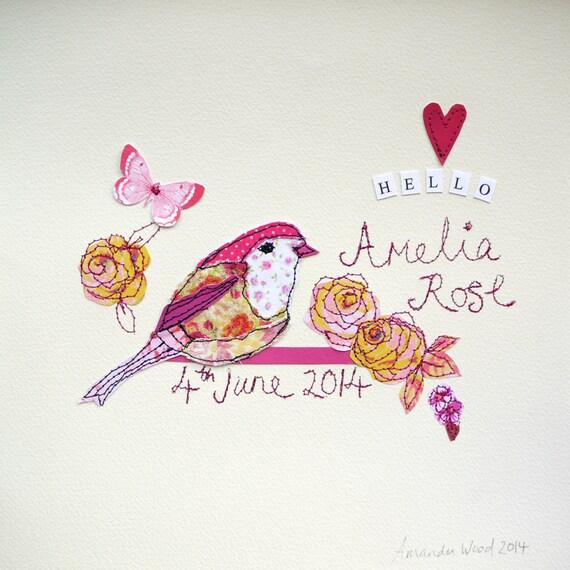 Bespoke Baby Girl Bird