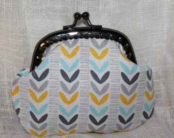 Yellow and Grey Coin Purse