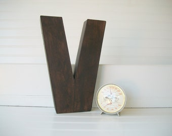 Painted Letter . Wall Letters . Rustic Letters . Initial. Industrial . Custom Painted Letter. Home Decor .Letter V