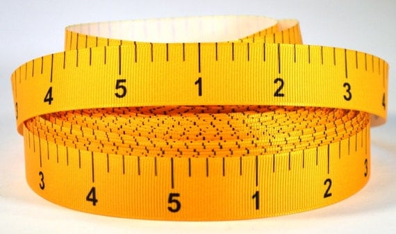 7/8 Tape Measure Grosgrain Printed Ribbon By RibbonStation