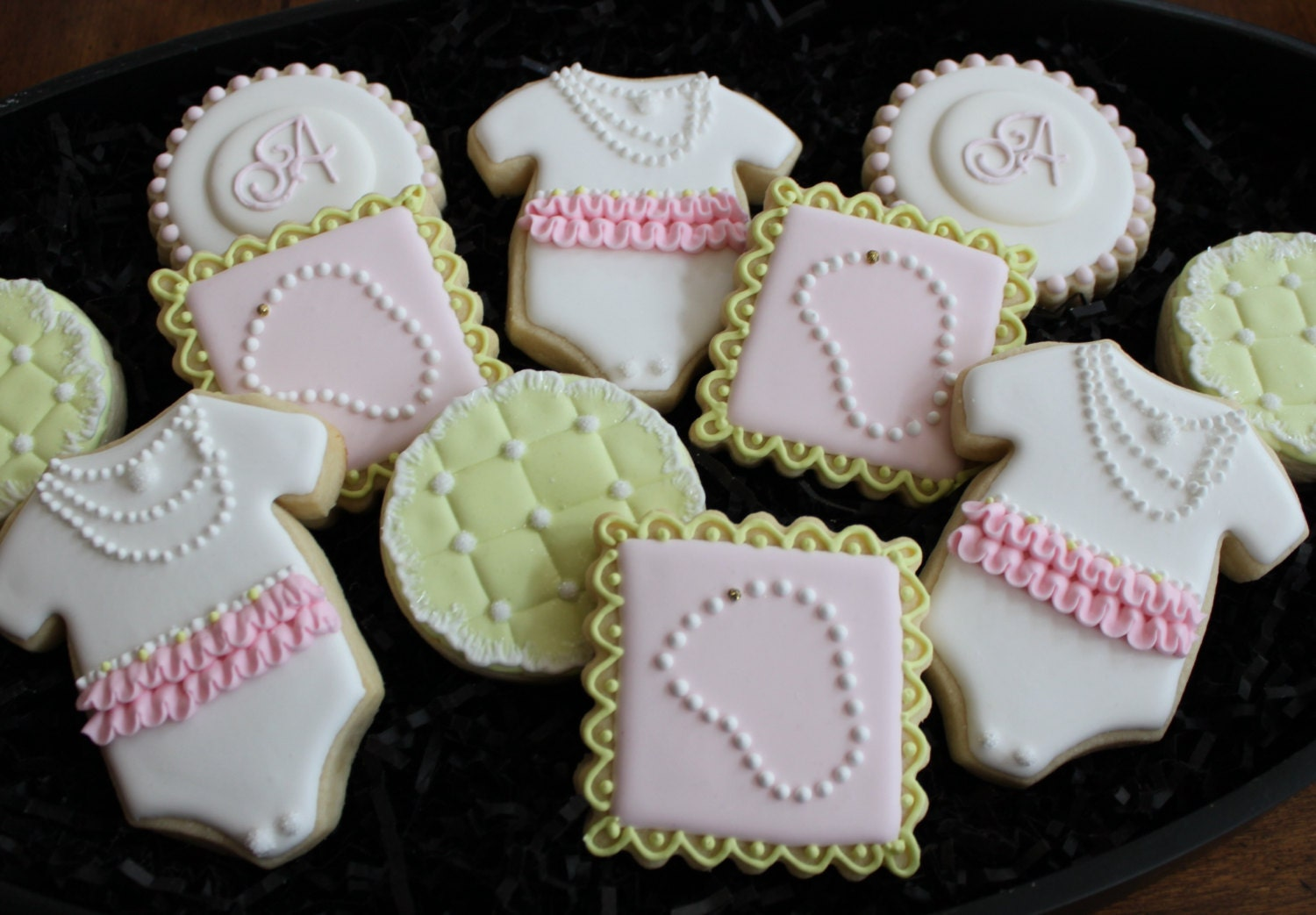 baby shower cookies baby girl shower cookie favors diamonds