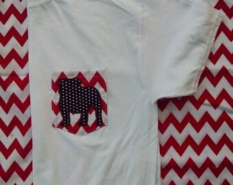 Short or Long Sleeve Georgia Bulldogs Pocket Tee - Can be monogrammed