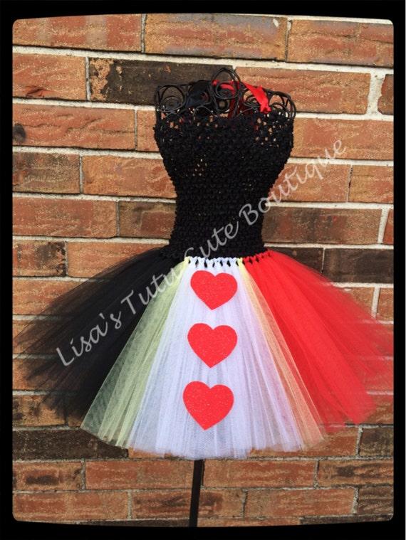 Queen of Hearts Inspired Tutu Dress by LisasTutus on Etsy