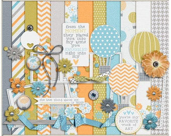 Little Wonder Digital Mini - Digital Scrapbooking Mini Kit for baby, children, parents, INSTANT DOWNLOAD