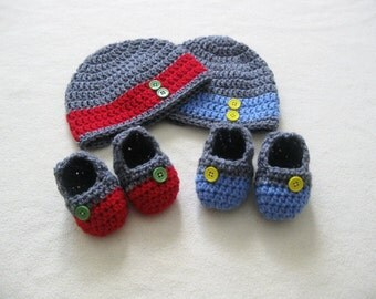 Twin baby set, twins beanie, twins shoes, twins gift