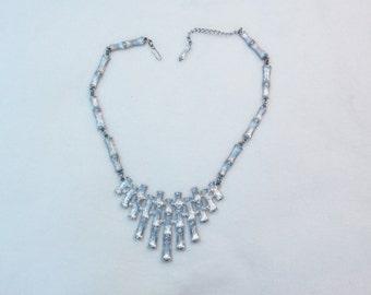 Napier bamboo silvertone necklace 1960s 1970s