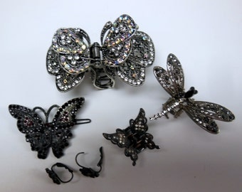 Collection of Butterfly Hairclips and Earrings