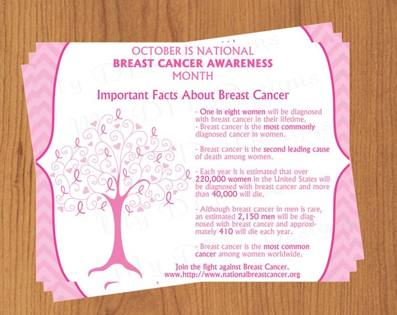 Breast cancer awareness flyer editable template microsoft for Breast cancer brochure template free
