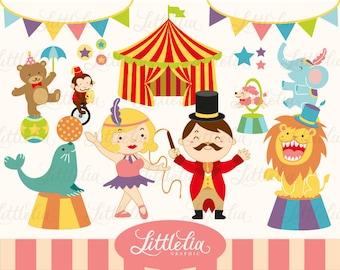 Circus Digital Clipart Set / instant download - 13002