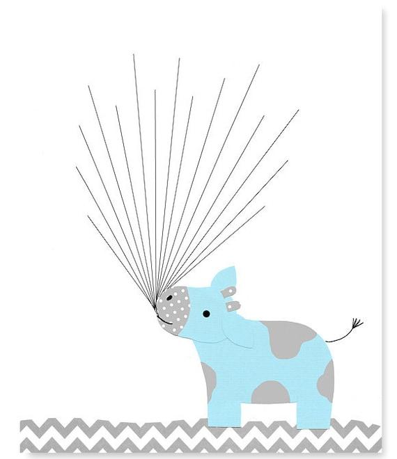 cow baby shower guest book fingerprint baby shower alternative guest book balloons thumbprint guest book blue