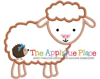 Sheep Machine Embroidery Applique Design