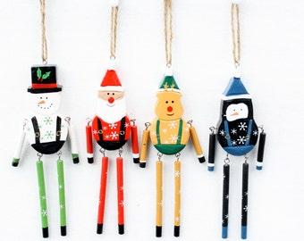 Vintage Dangling Leg Christmas Ornaments