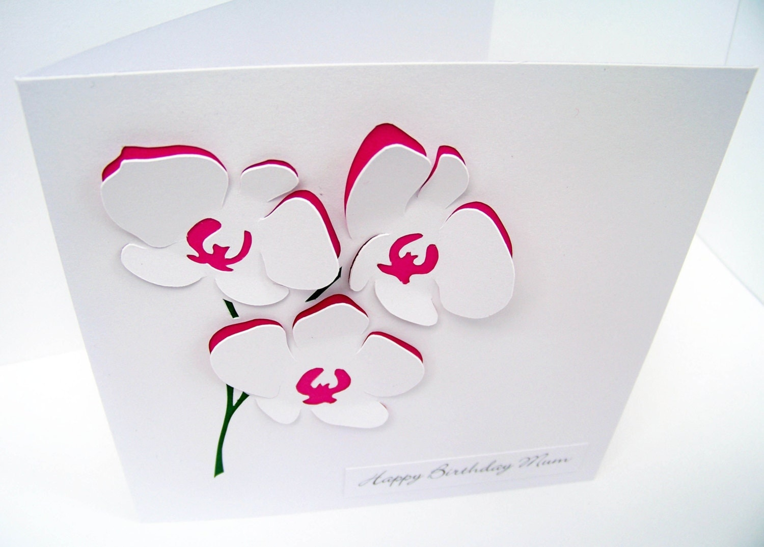 Orchid card flowers personalised card mothers day zoom dhlflorist Choice Image