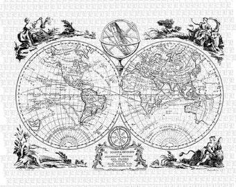 33 decorative art nouveau motifs printable graphics instant vintage world map printable graphic digital paper high quality black and white 2561 gumiabroncs Images