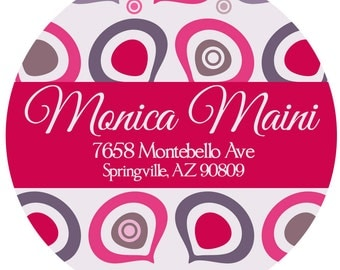 Address Labels - Swirl Return Address Labels -  Personalized Stickers, Shipping Labels
