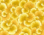 GILDED GINKGO LEAVES: Yellow Gorgeous Tonal Fabric from Kona Bay (1/2 Yd)