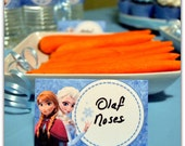 Disney FROZEN Birthday Party Food Labels Printable