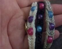Beaded Bisexual Pride Bracelet