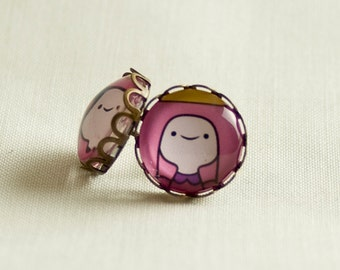 Adventure Time Earrings / Princess Bubblegum / Exclusive for Adventure Time Lovers