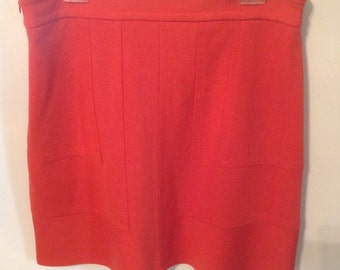 Vermilion Orange Mini Skirt