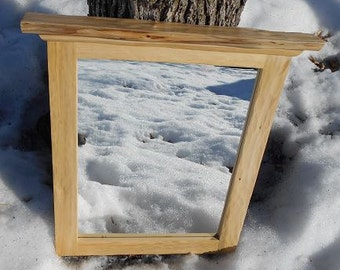 Rustic Cedar Framed Mirror -- Rustic Cabin Mirror -- Cottage Mirror -- Resort Mirror -- Bathroom Mirror - Handcrafted Frame