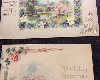 Vintage Post Card and Birthday Card early 1900's